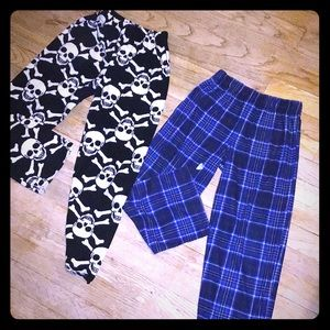 Boys size 6/7 and size 7/8 Sleep pants Set